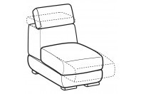 Sofas Graffiti 1-er central element with sliding seat