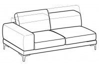 Sofas Harvey 3-er maxi lateral element