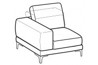 Sofas Harvey 1-er lateral element