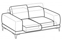 Sofas Harvey 2-er sofa with sliding seats