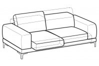 Sofas Harvey 3-er maxi sofa with sliding seats