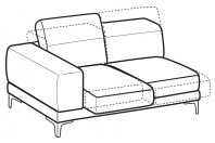 Sofas Harvey 2-er lateral element with sliding seats
