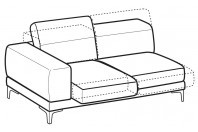 Sofas Harvey 3-er lateral element with with sliding seats