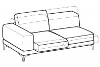 Sofas Harvey 3-er maxi lateral element with sliding seats