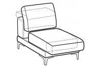 Sofas Harvey 1-er central element with sliding seat