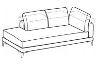 Sofas Harvey Angular side element