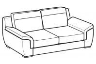 Sofas Hollis 3-er sofa
