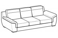 Sofas Hollis 3-er maxi sofa