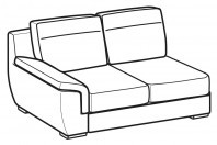 Sofas Hollis 2-er lateral element