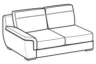 Sofas Hollis 3-er lateral element