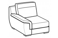 Sofas Hollis 1-er small lateral element