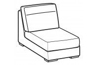 Sofas Hollis 1-er small central element