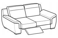 Sofas Hollis 2-er sofa with 1 relax