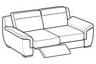 Sofas Hollis 3-er sofa with 1 relax