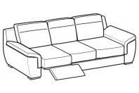 Sofas Hollis 3-er maxi sofa with 1 relax