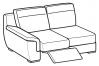 Sofas Hollis 2-er lateral element with 1 relax