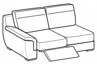 Sofas Hollis 3-er lateral element with 1 relax