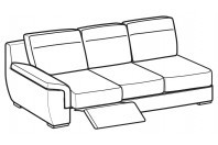 Sofas Hollis 3-er maxi lateral element with 1 relax