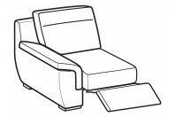 Sofas Hollis 1-er small lateral element with relax