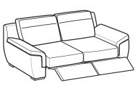 Sofas Hollis 3-er sofa with 2 relax