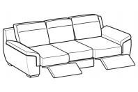 Sofas Hollis 3-er maxi sofa with 2 relax