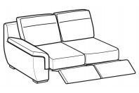 Sofas Hollis 2-er lateral element with 2 relax