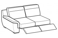 Sofas Hollis 3-er lateral element with 2 relax