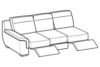 Sofas Hollis 3-er maxi lateral element with 2 relax