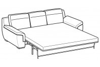 Sofas Hollis 3-er maxi bed with electro-welded base