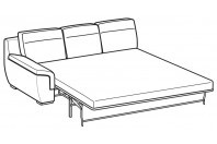 Sofas Hollis 3-er maxi lateral element with electro-welded base