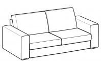 Sofas Icaro 2-er maxi sofa