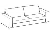 Sofas Icaro 3-er maxi sofa