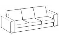 Sofas Icaro 3-er maxi sofa with three seats