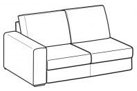 Sofas Icaro 2-er lateral element