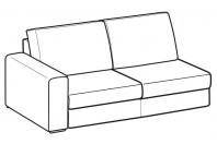 Sofas Icaro 2-er maxi lateral element