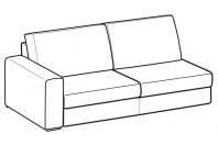 Sofas Icaro 3-er lateral element