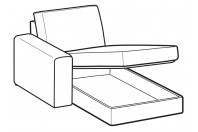 Sofas Icaro Chaise Longue with storage
