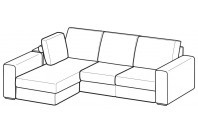 Sofas Icaro Reversible composition with footstool