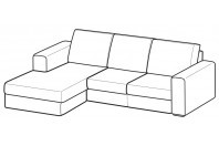 Sofas Icaro Reversible composition with Chaise Longue