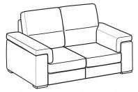Sofas Jaro 2-er sofa