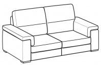 Sofas Jaro 3-er sofa