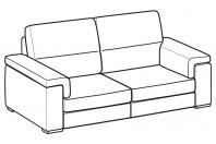 Sofas Jaro 3-er maxi sofa
