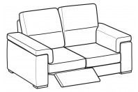 Sofas Jaro 2-er sofa with 1 relax