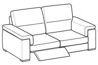 Sofas Jaro 3-er sofa with 1 relax