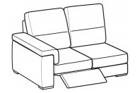 Sofas Jaro 2-er lateral element with 1 relax