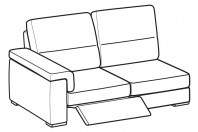 Sofas Jaro 3-er lateral element with 1 relax