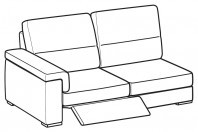 Sofas Jaro 3-er maxi lateral element with 1 relax