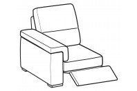Sofas Jaro 1-er small lateral element with relax