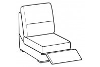 Sofas Jaro 1-er small central element with relax