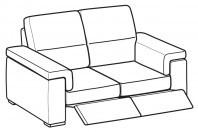 Sofas Jaro 2-er sofa with 2 relax
